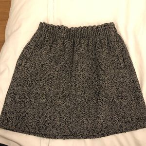 J. Crew tweed mini skirt with pockets!